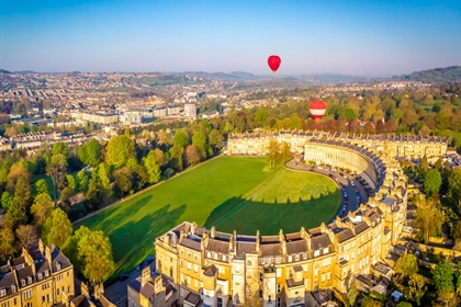 Royal Crescent Ariel View