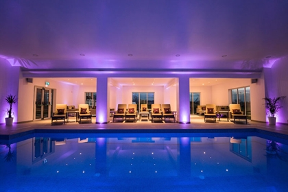 Malvern View Spa at Bank House Hotel Poolside Loungers