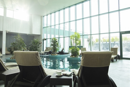 The Malvern Spa Poolside View