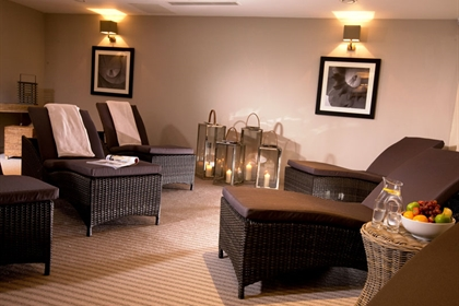 Mottram Hall spa relaxation room
