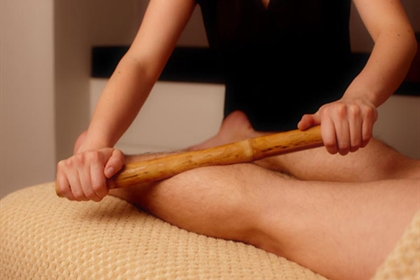 Bannatyne spa bamboo leg massage