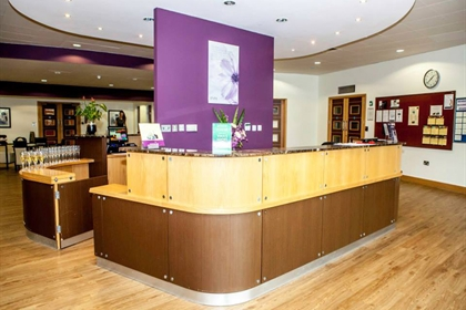 East Sussex National spa reception