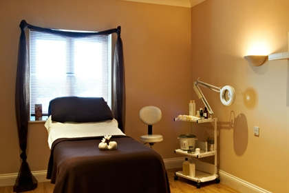Clarice Bramford spa treatment room