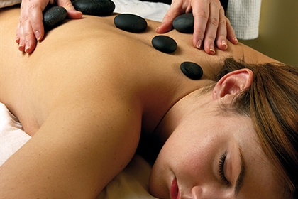 Cottons spa treatment hot stone massage