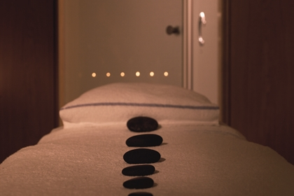 Berystede spa treatment room hot stones