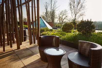 Ockenden Manor Hotel and Spa Outdoor Relaxation Area