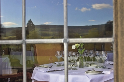 Gisborough Hall Restaurant Through the Window