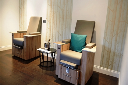 Chakra Spa at Crowne Plaza Felbridge Pedicure Area