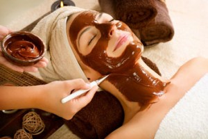 Luxury chocolate facial