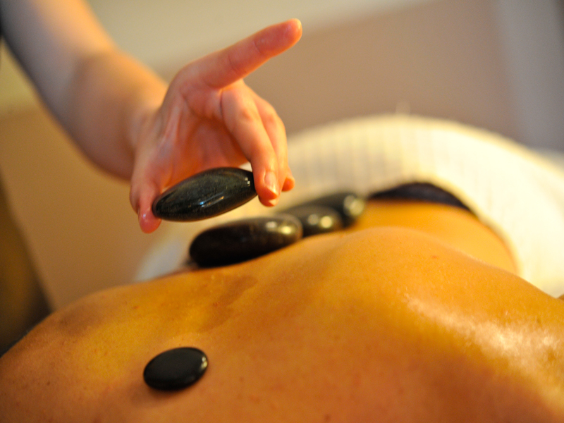 New Park Manor spa treatment hot stone massage