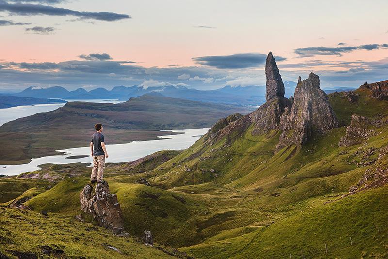 Remote highlands walk